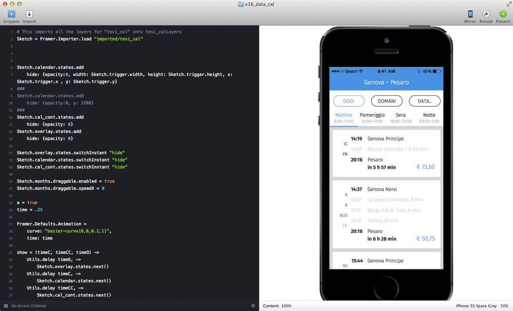Prototyping using framer.js and Framer Studio